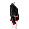 Gucci 'Blind For Love' Leather Jacket with Faux Pearl and Tiger Embroidery