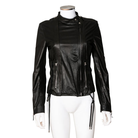 Gucci Black Perforated Leather Jacket