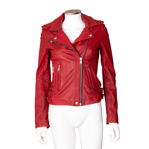 IRO 'Han' Distressed Leather Jacket