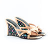 Louis Vuitton Multi-colour Monogrammed Wedge Sandals