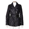 Burberry Brit Black Quilted Jacket with Waist Belt