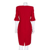 Alexander McQueen Red Short Sleeve Dress with Pleated Cuffs