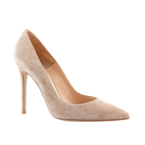 Gianvito Rossi Suede Stiletto Pumps