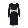 Stella McCartney Long Sleeve Dress with Sheer Mesh Panel