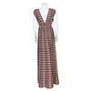 M Missoni Sleeveless Geometric Pattern Maxi Dress