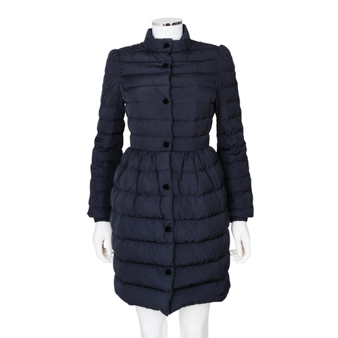 Red Valentino Lightweight Down Puffer Coat with Bow Detail