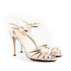 Charlotte Olympia NEW 'Gilda' Metallic Double Buckle Strappy Sandals