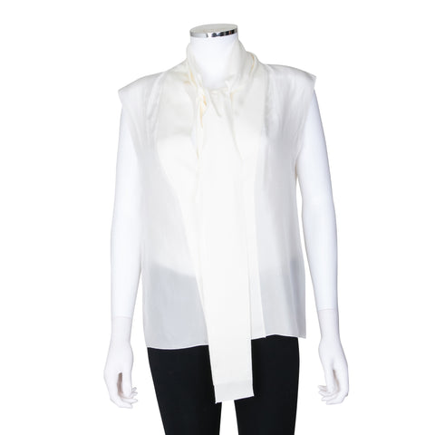 Lanvin Sleeveless Blouse with Tie