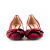 Prada Sport Suede Round Toe with Bow Pumps