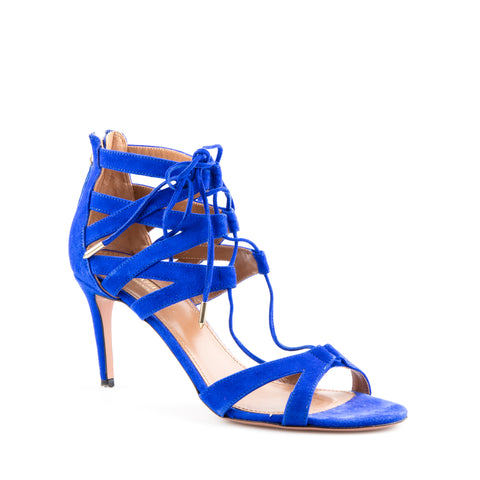 Aquazzura 'Beverly Hills' Suede Lace Up Sandals