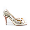 Louis Vuitton Metallic Leather Pumps