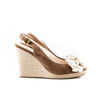Prada Sport Suede Slingback Platform Wedge with Bow Detail