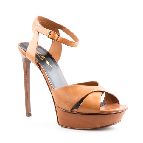Saint Laurent 'Bianca' Leather Platform Sandals