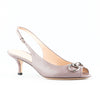 Gucci Open Toe Slingback Low Heel Sandals