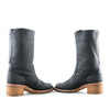 Chanel Leather and Shearling Lined Boots