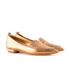 Nicholas Kirkwood Metallic Pointed Toe Loafer Flats