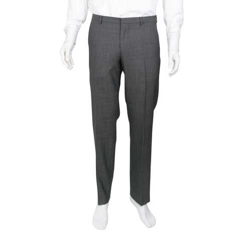 Gucci Men's Grey Straight Leg Wool Dress Pants