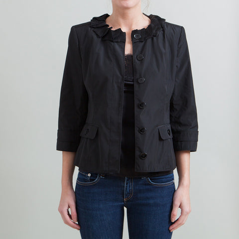 Burberry London Jacket with Ruffled Neckline