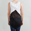 Derek Lam 10 Crosby for Intermix White and Black Mesh Top