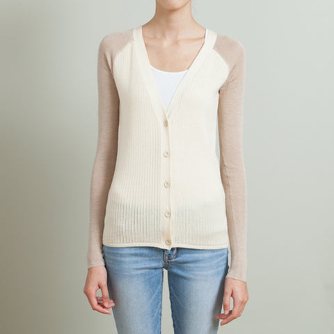 Reed Krakoff Two-Toned Cardigan Sweater
