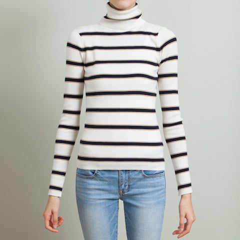 A.L.C. Striped Turtleneck
