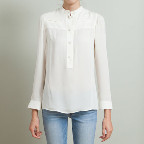 Gucci Ivory Silk Blouse