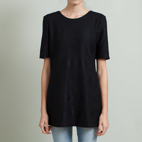 Burberry Black Lace Overlay Tunic
