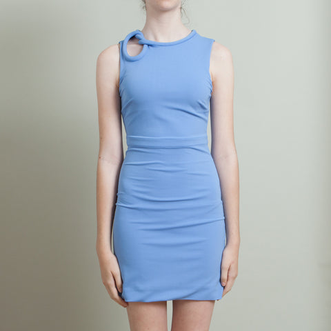 Gucci Blue Knot Shoulder Dress