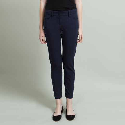 Brunello Cucinelli Navy Cropped Pants