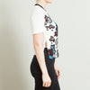 A.L.C. White Floral Crop Top with Side Slit