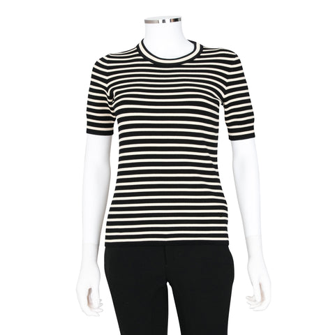 Gucci Striped Short Sleeve Knit T-Shirt