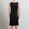 Valentino Black Draped Drop-Waist Dress