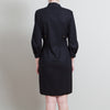 Gucci Black Wool V-Neck Dress