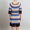 M Missoni Blue and Cream Knit Dress
