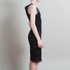 Alexander McQueen Black Lace Sleeveless Dress