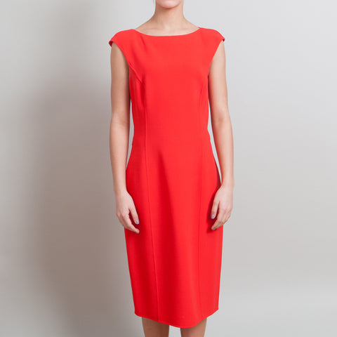 Michael Kors Orange-Red Sleeveless Dress
