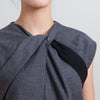 Gucci Grey Sleeveless Wool Shift Dress