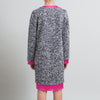 Balenciaga V-Neck Grey and Pink Sweater Dress