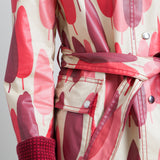 Orla Kiely Pink and Beige Printed Raincoat