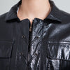 Yves Saint Laurent Glossy Black Faux Leather Jacket