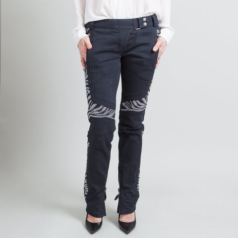 Balmain Embellished Black Pants