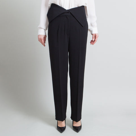 Celine High Waisted Black Trousers