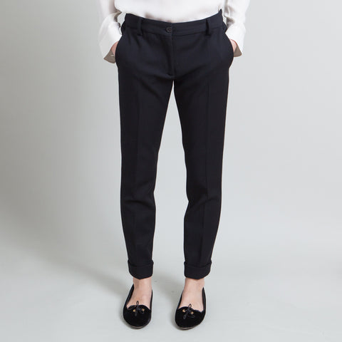 Moschino Cuffed Black Pants