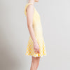 Alexander McQueen Yellow Honeycomb Jacquard Knit Dress