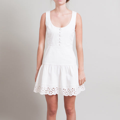 Prada White Sleeveless Denim Dress