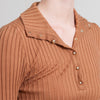 Stella McCartney Brown Ribbed and Fitted Sweater