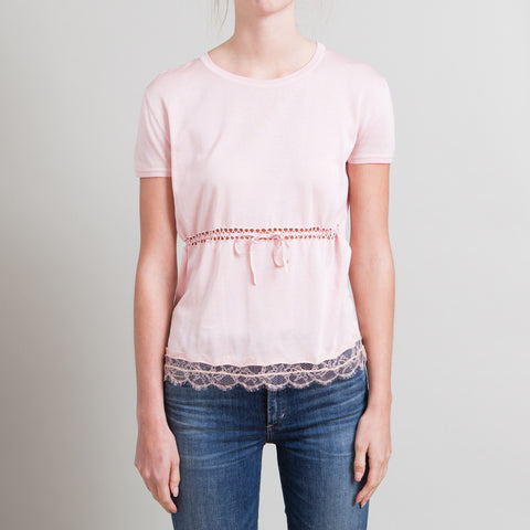 Emilio Pucci Pink Top with Lace Trim