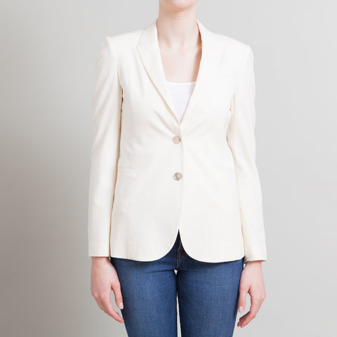 Gucci Cream Wool Blazer with Floral Lining