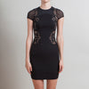Stella McCartney Black Mini Dress with Lace