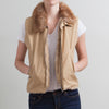 Gianfranco Ferre Faux Fur Trimmed Vest